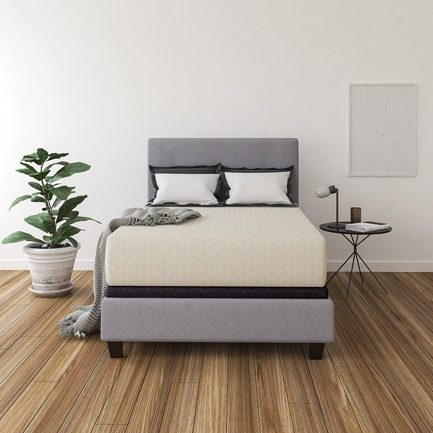 Ashley Furniture Signature Design - 12 Inch Chime Express Memory Foam Mattress - Bed in a Box - Full - Firm Comfort Level - White